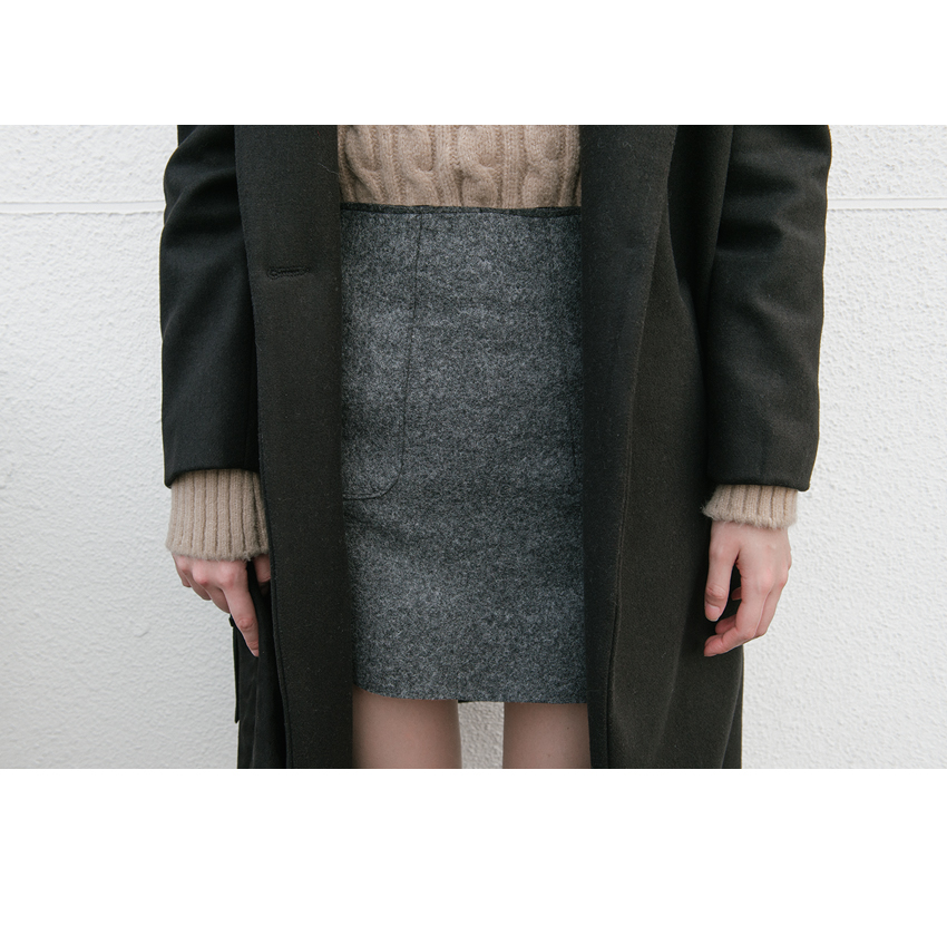 Notched Coat with Quilted Inner Lining|